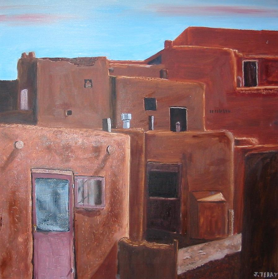 Southwest Painting - Taos Pueblo Viii by John Terry