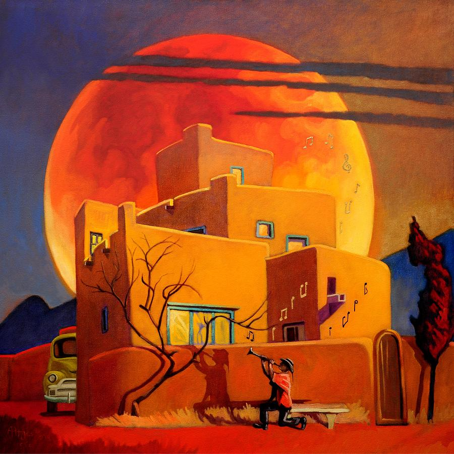 Taos Wolf Moon by Art West
