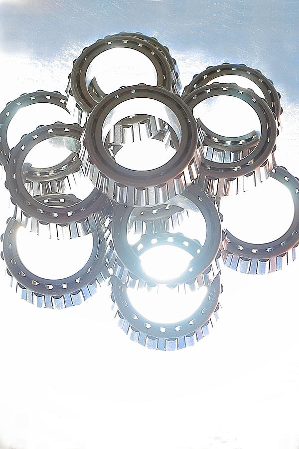 Bearings Photograph - Tapered Stack by David Andersen