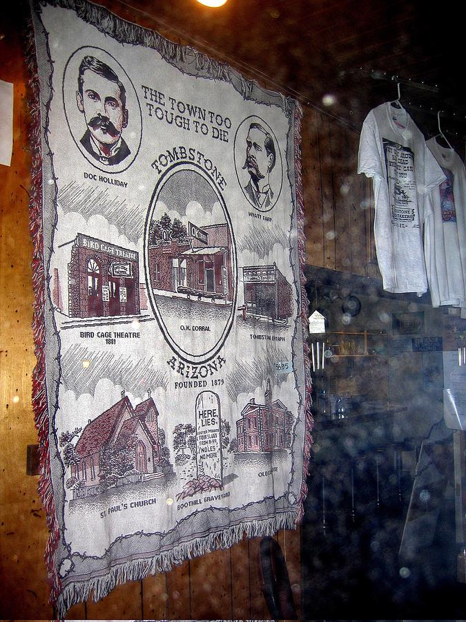 Tapestry In Window Tombstone Arizona 2004