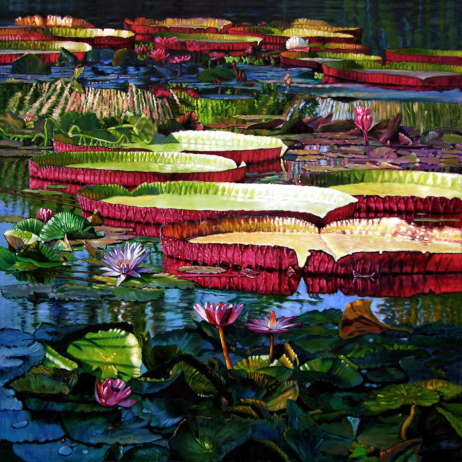Landscape Painting - Tapestry Of Color And Light by John Lautermilch