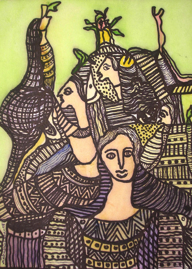 Paintings Painting - Tapestry Of Life by Nabakishore Chanda