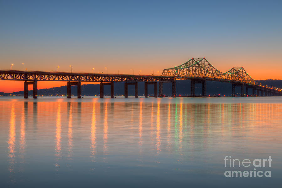 America Photograph - Tappan Zee Bridge After Sunset II by Clarence Holmes