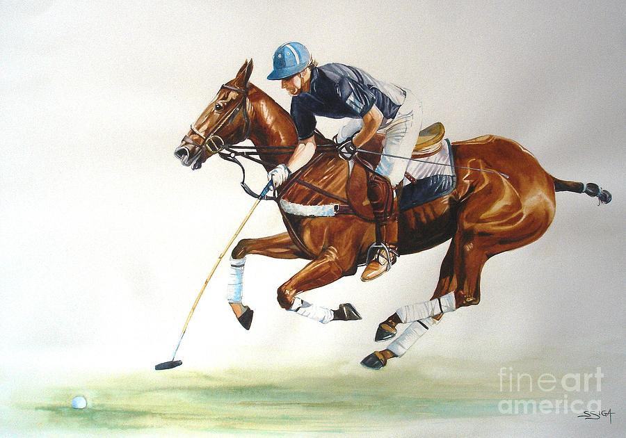 Horse Painting - tapping On The Nearside by Sabrina Siga