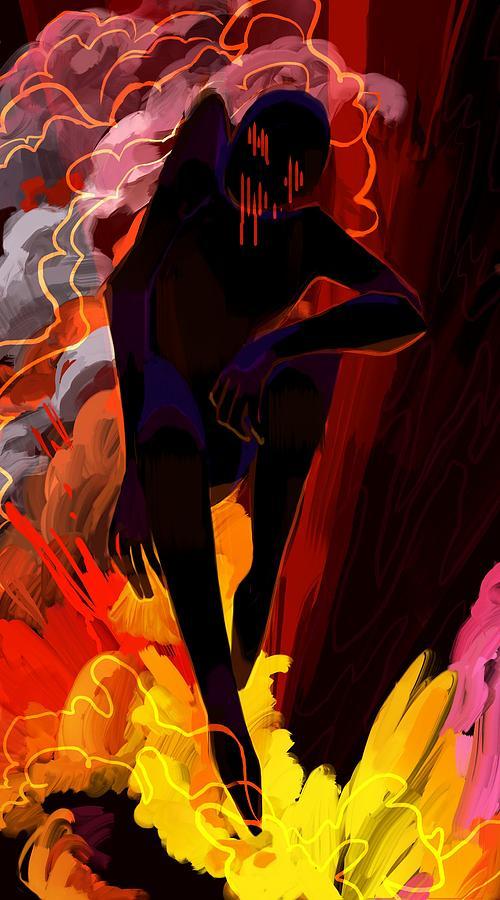 Creepy Digital Art - Tar by Ellan Suder