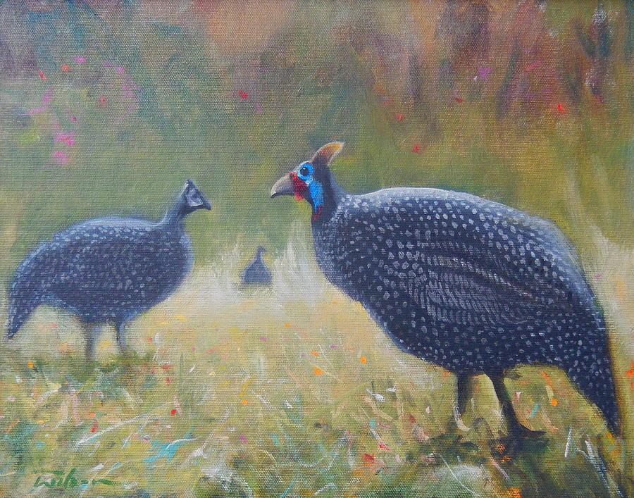 Guinea Fowl Painting - Tarantale - Guinea Fowl by Ron Wilson