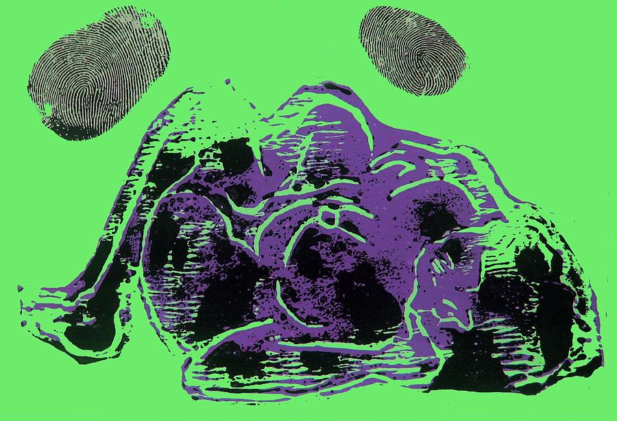Lino Mixed Media - Tarbaby 3 by Adam Kissel