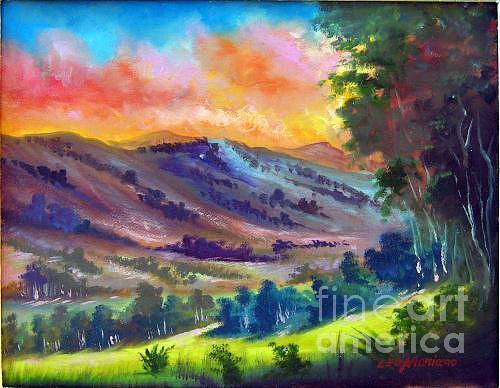 Landscape Painting - Tarde De Sol by Leomariano artist BRASIL