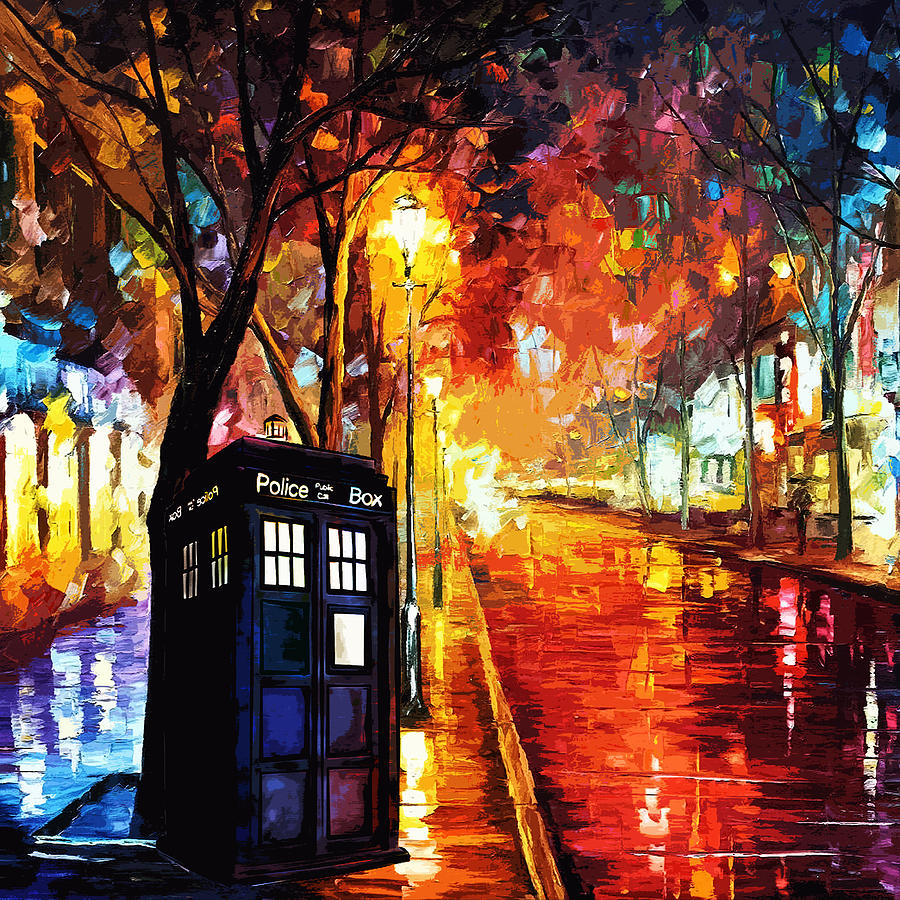 tardis art painting digital art by koko priyanto tardis digital art tardis art painting by koko priyanto