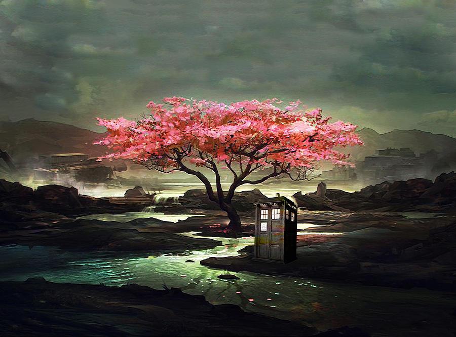 Tardis Painting - Tardis Blossom by Koko Priyanto