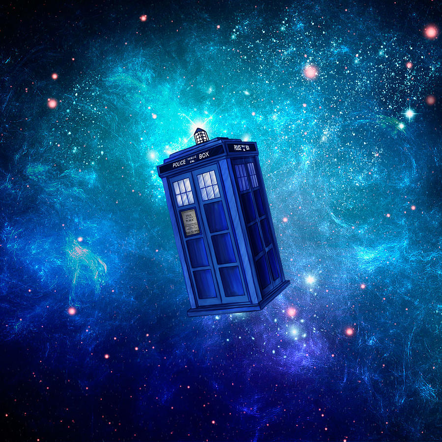 Tardis Wallpaper Iphone: Tardis Blue Space Digital Art By Koko Priyanto