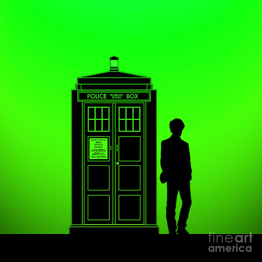 Tardis With The Eleventh Doctor Digital Art By Edi Suniarto