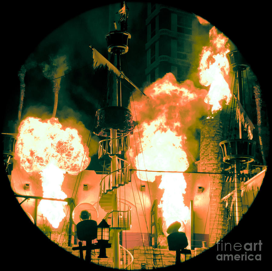Las Vegas Photograph - Target In Flames by Andy Smy