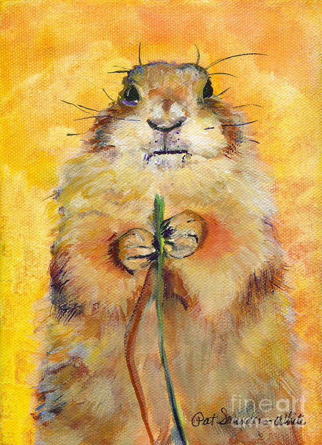 Rodent Painting - Target by Pat Saunders-White