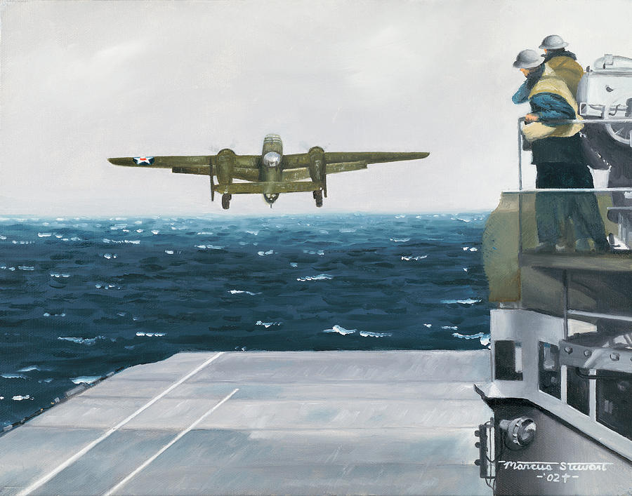 Aviation Painting - Target Tokyo by Marc Stewart