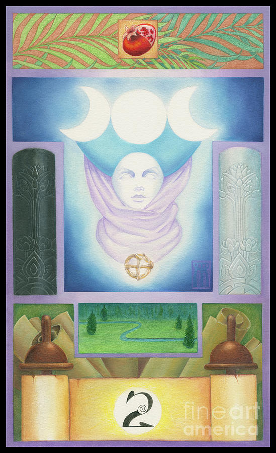 Tarot Key 2 High Priestess by Melissa A Benson