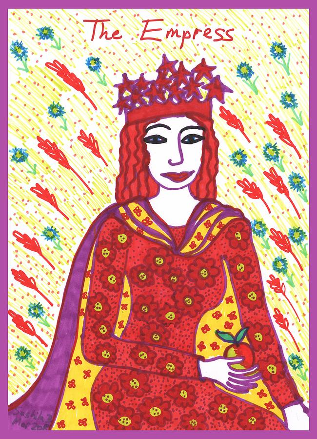 Tarot Painting - Tarot Of The Younger Self The Empress by Sushila Burgess