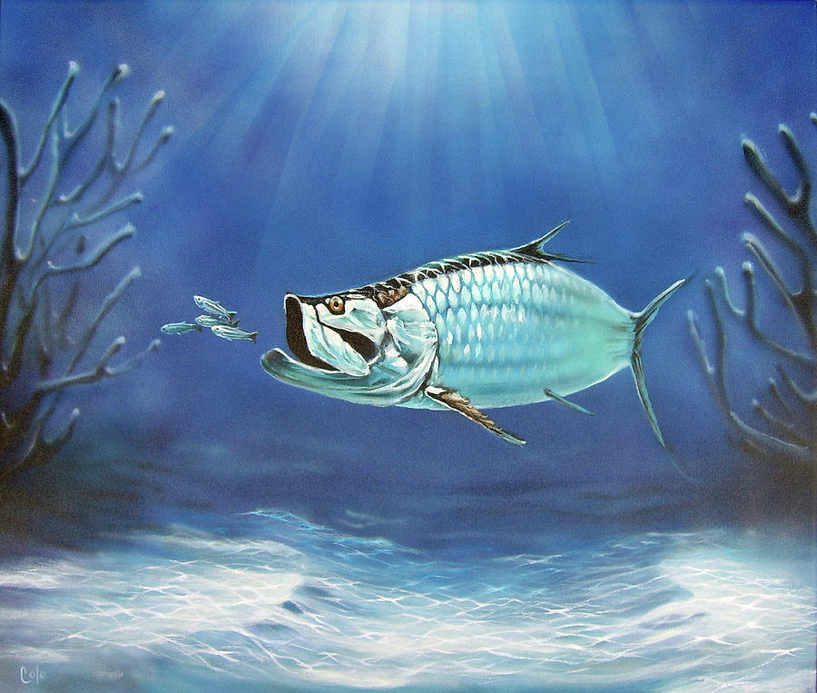 Fish Painting - Tarpon by Larry Cole