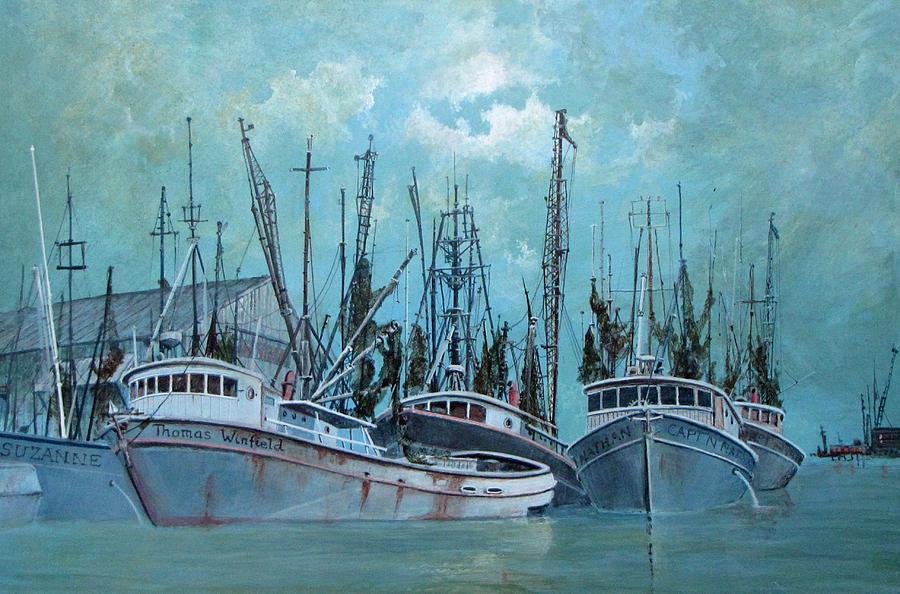 Fishing Boats Drawing - Tarpon Springs by Jim Hubbard
