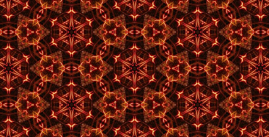 Kaleidoscope Photograph - Tartan Fire Medallions by M E Cieplinski