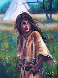 Native American Painting - Tashina by Patti  Jo