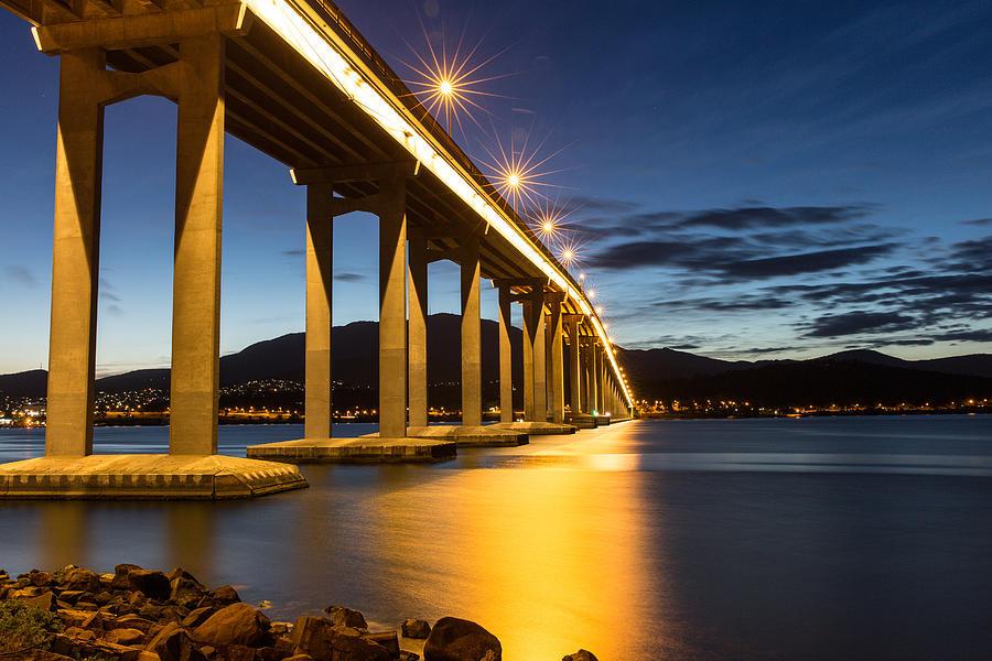Bridge Photograph - Tasman Bridge by Tim Lake