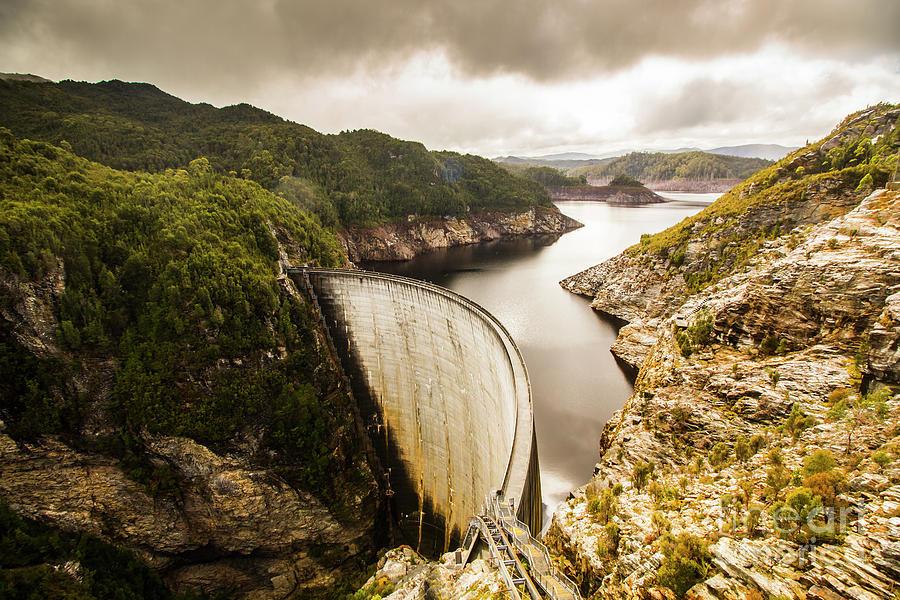 Dam Photograph - Tasmania Hydropower Dam by Jorgo Photography - Wall Art Gallery