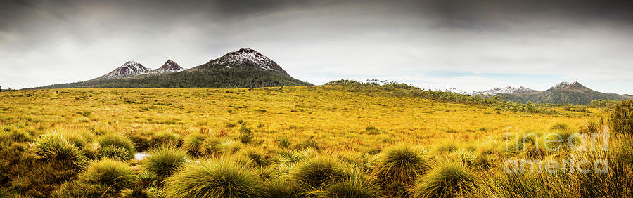 Country Photograph - Tasmania Mountains Of The East-west Great Divide  by Jorgo Photography - Wall Art Gallery