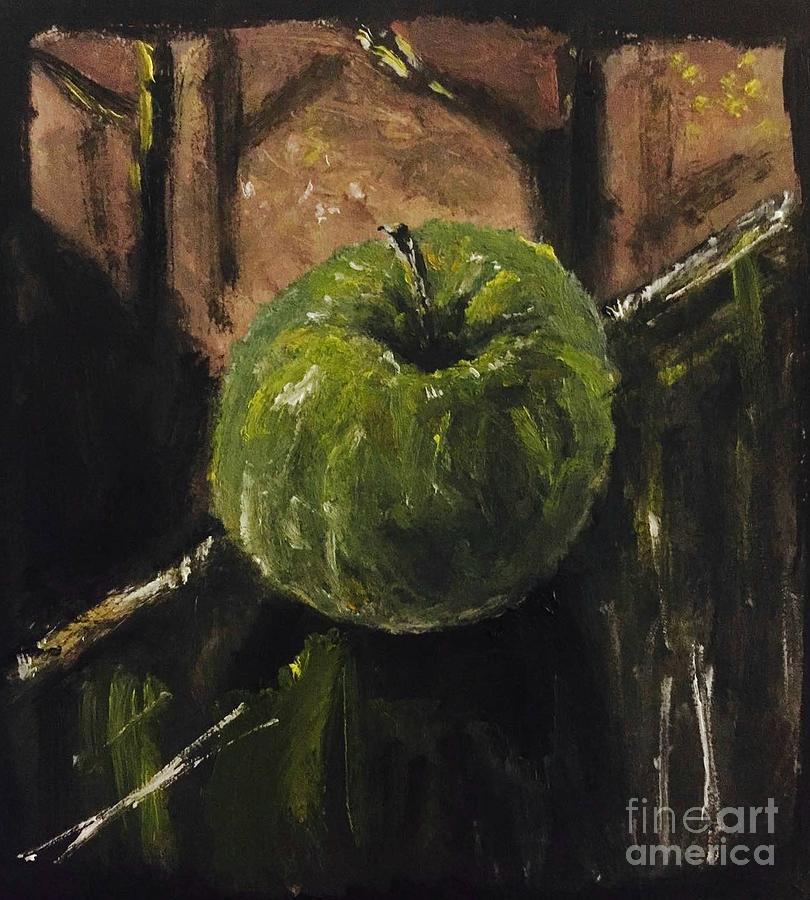 Apple Painting - Taste of Harvey by Esmeralda Acupan