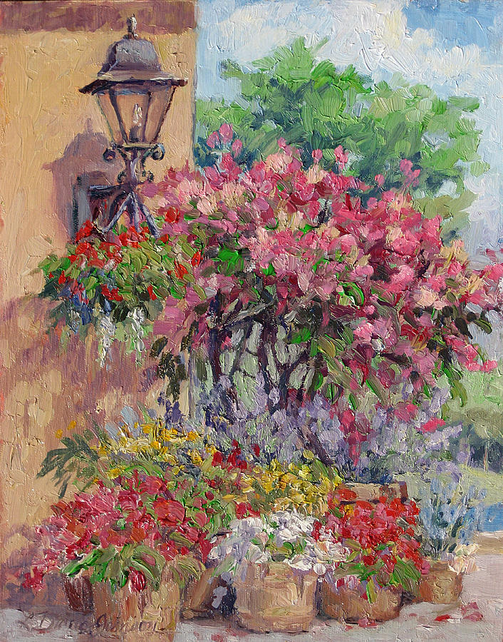 Flowering Trees Painting - Taste Of Italy by L Diane Johnson