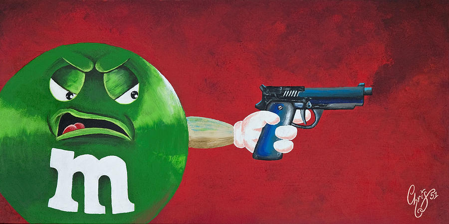 M & M Painting - Taste The Rainbow Of Bullets Bitch Part 1 by Chris  Fifty-one