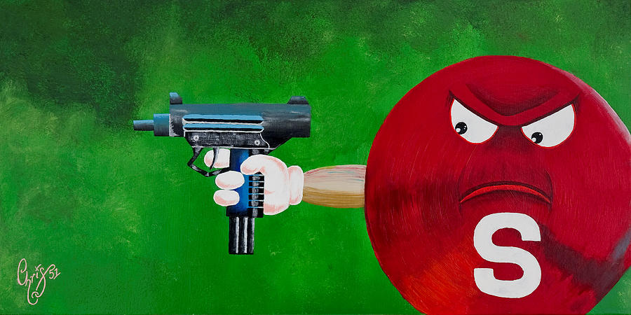 M & M Painting - Taste The Rainbow Of Bullets Bitch Part 2 by Chris  Fifty-one