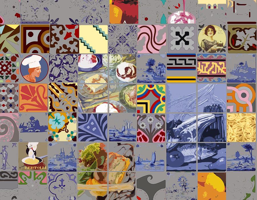 Kitchen Digital Art - Tasty Tiles by Alfred Degens