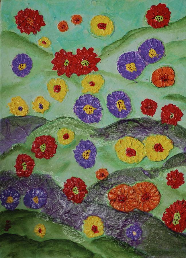 Flowers Painting - Tata Land by Lauren Mooney Bear