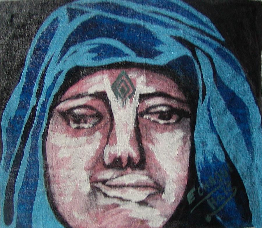 Tatouage 04  2007 Painting by Halima Echaoui