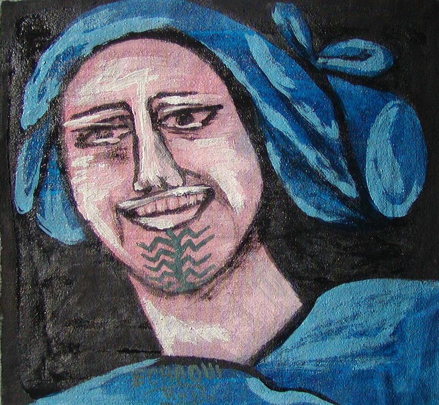 Tatouage 05  2007 Painting by Halima Echaoui