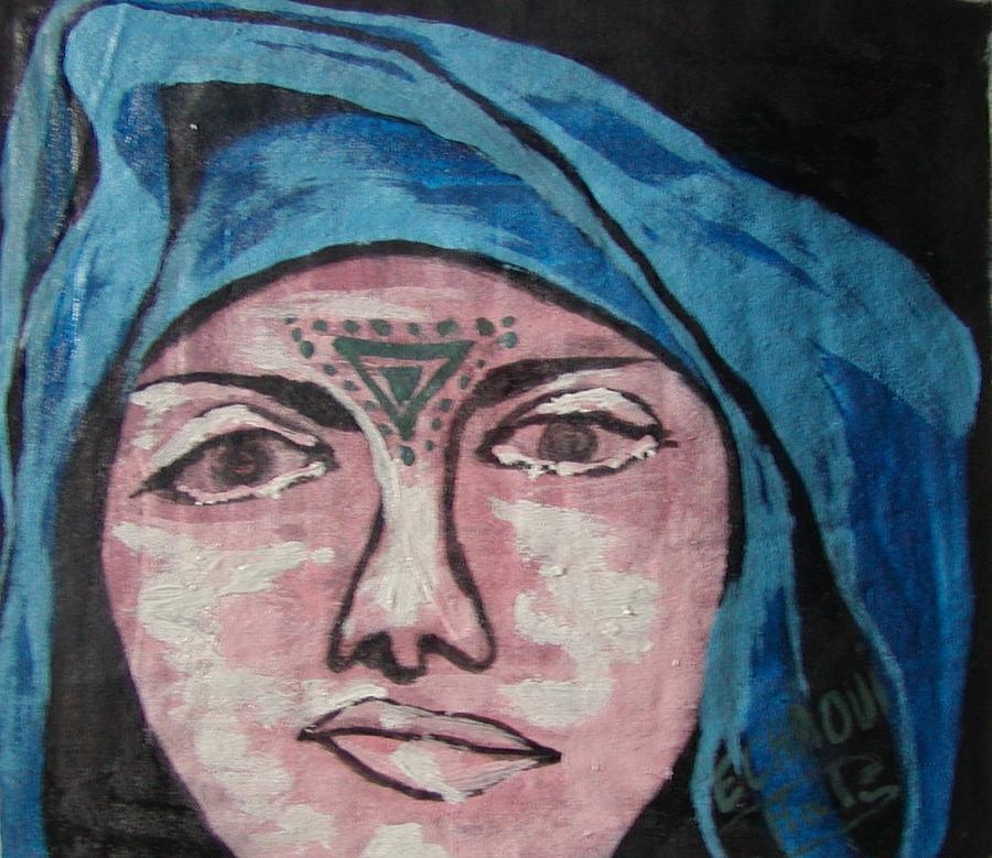 Tatouage 07  2007 Painting by Halima Echaoui
