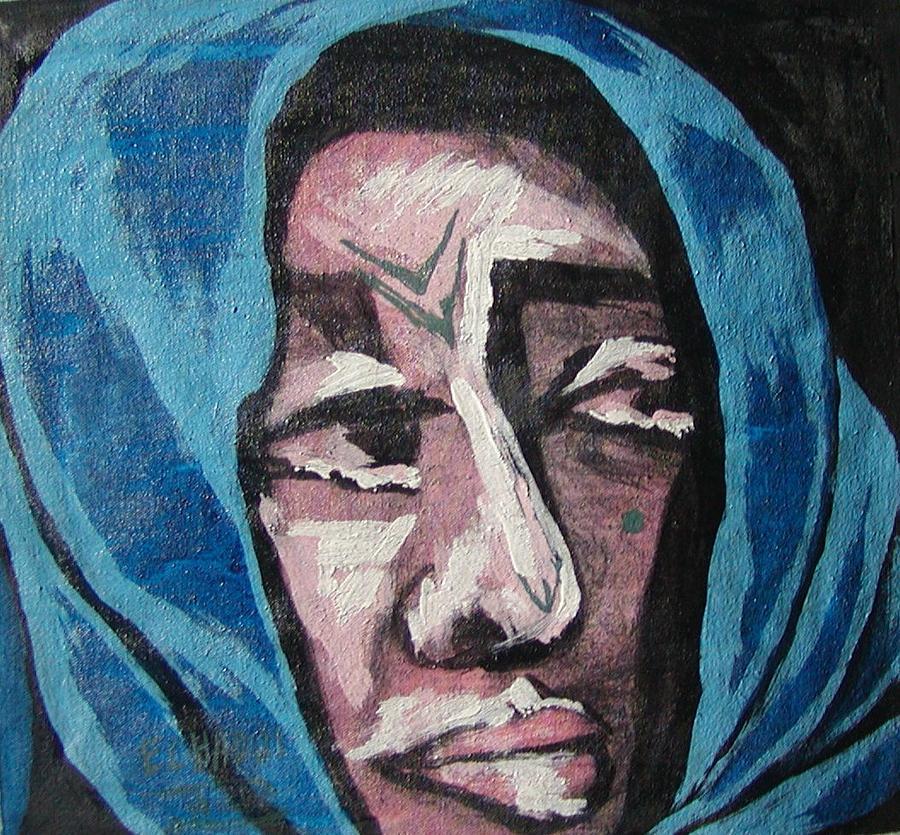 Tatouage 08  2007 Painting by Halima Echaoui