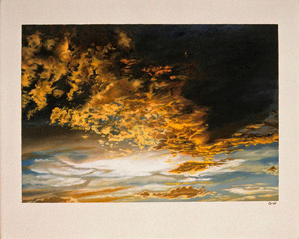 Tattered Clouds Painting by Abigail Winston