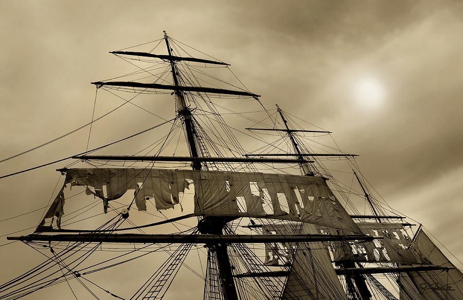 tattered sails photograph by joe bonita