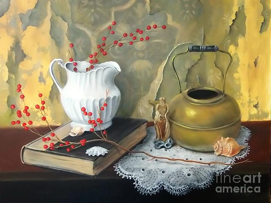 Still Life Painting - Tattered Wall by Patricia Lang