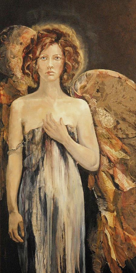 Tattered Wings Painting by Karen Schmitt