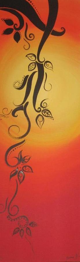 Graphic Painting - Tattoo 2 by Yasmin  Modi