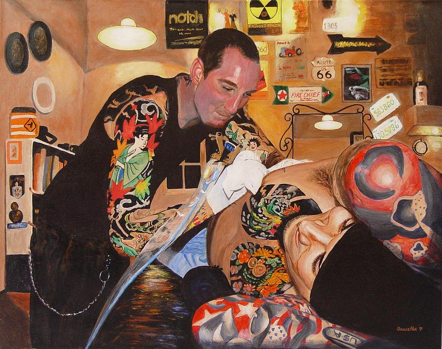 Tattoo artist painting by quwatha valentine for Best tattoo artists in america