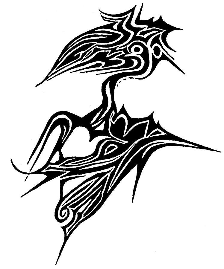 Tattoo Bird Drawing