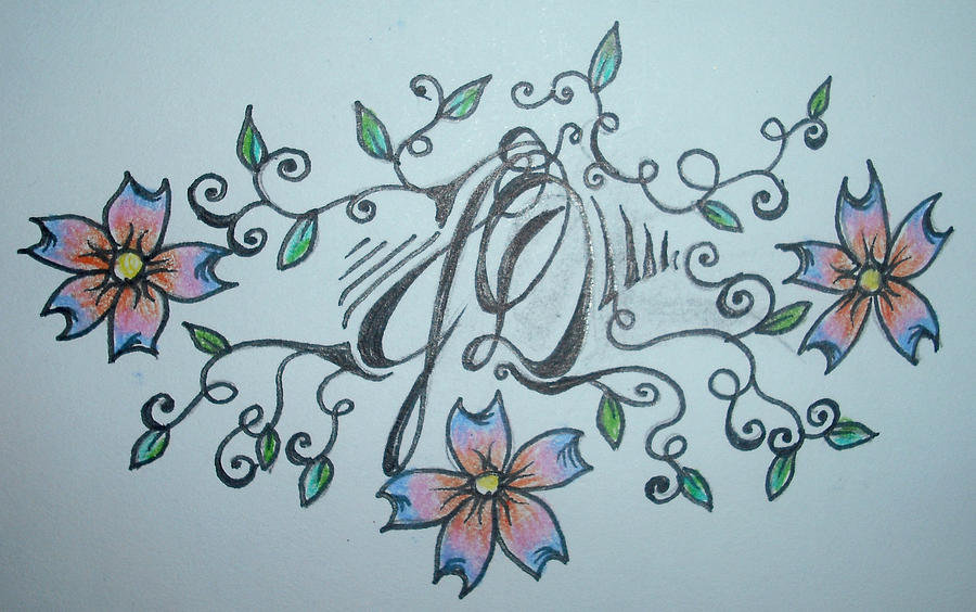Tattoo Design Drawing by Renee Alina Barela