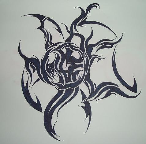Tattoo Drawing by Robert Chasse