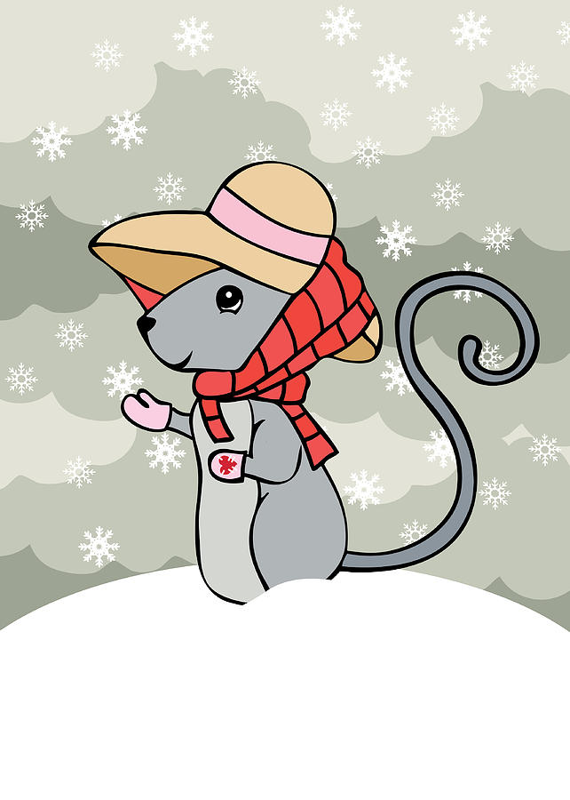 Mouse Digital Art - Tatty Winter by Christy Beckwith