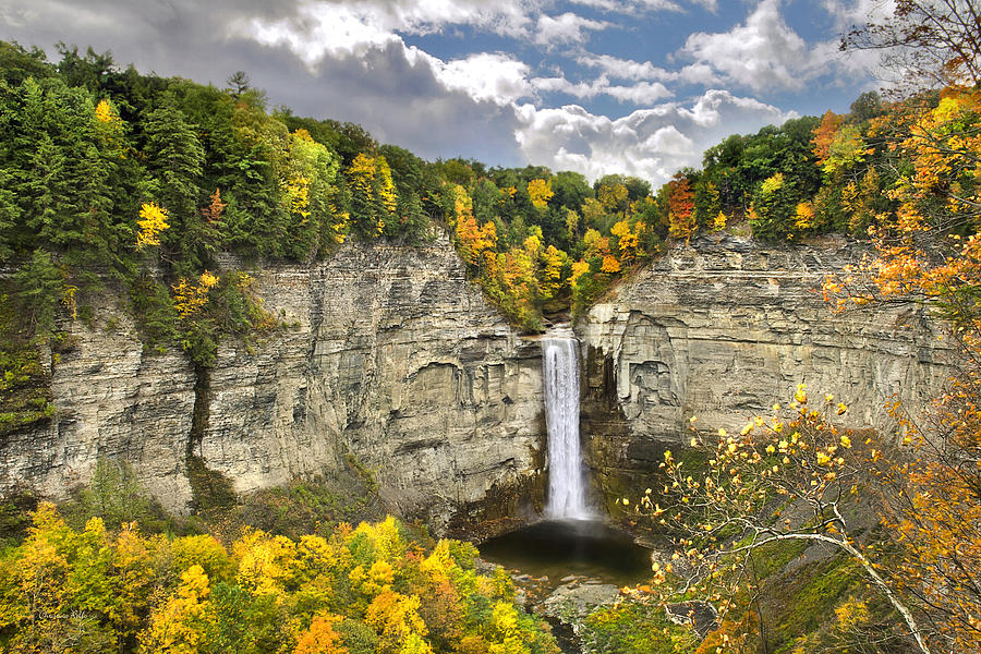 Taughannock Falls Photograph - Taughannock Falls Autumn by Christina Rollo