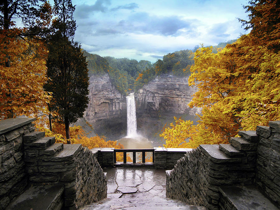Taughannock Falls Photograph - Taughannock In Autumn by Jessica Jenney